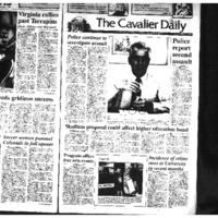 Cav Daily Sept 8, 1992 - Police Continue to Investigate, Police Report Second Assault.pdf