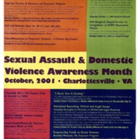 Sexual Assault & Domestic Violence Awareness Month 2001 Poster