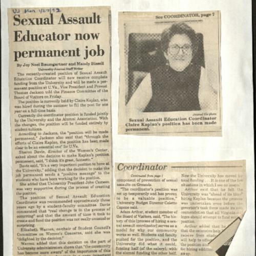 Sexual Assault Educator now permanent job-Baumgartner &Bissell.pdf