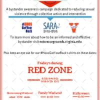 #HOOSGotYourBack Red Zone Poster