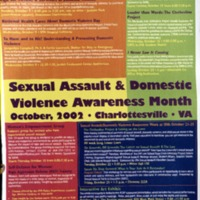 Sexual Assault & Domestic Violence Awareness Month 2002 Poster