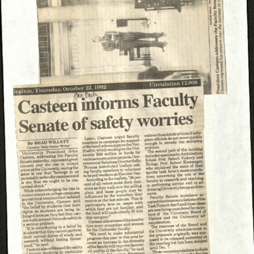 Casteen informs Facult Senate of safety worries- Willett.pdf