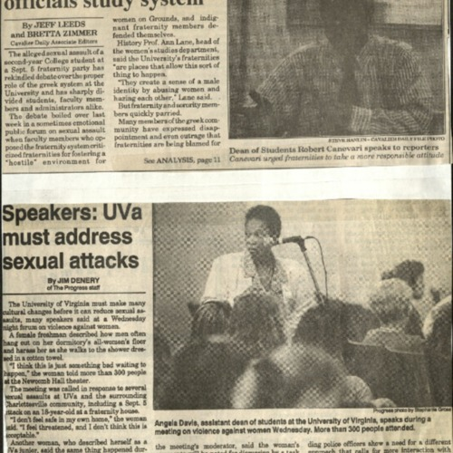 Fraternity members, officials study system-Leeds & Zimmer, Speakers-UVA must address sexual attacks-Denery.pdf
