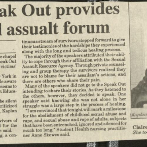 Second Speak Out provides confidential assault forum- Lackey.pdf