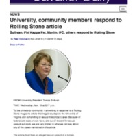 The Cavalier Daily : University, community members respond to Rolling Stone article.pdf