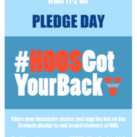 Hoos Got Your Back Pledge Day