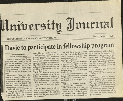 Davie to participate in fellowship program- Cole.pdf