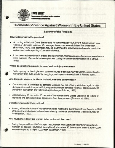 Domestic Violence Against Women in the United States- fact sheet.pdf