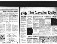 1984-1-24 Cavalier Daily Gordon Gains Support, Withholds Details.pdf