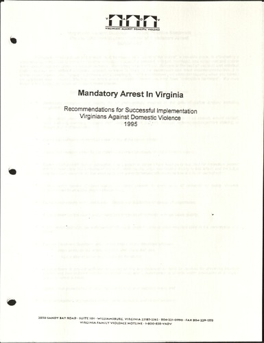 Mandatory Arrest in Virginia- 1995.pdf