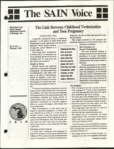 The SAIN Voice- The Link btwn Childhood Victimization & Teen pregnancy.pdf