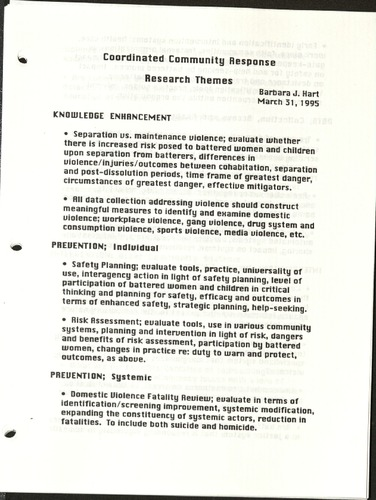 Coordinates Community Response- Research Themes- Barbara J. Hart- March, 1995.pdf