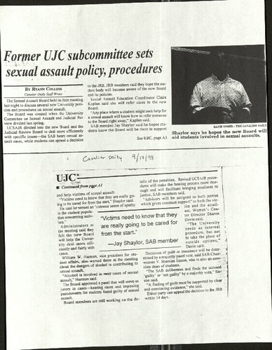 Former UJC subcommittee sets sexual assault policy, procedures- Collins.pdf