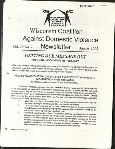Wisconsin Coalition against domestic violence Newsletter- March, 1995.pdf